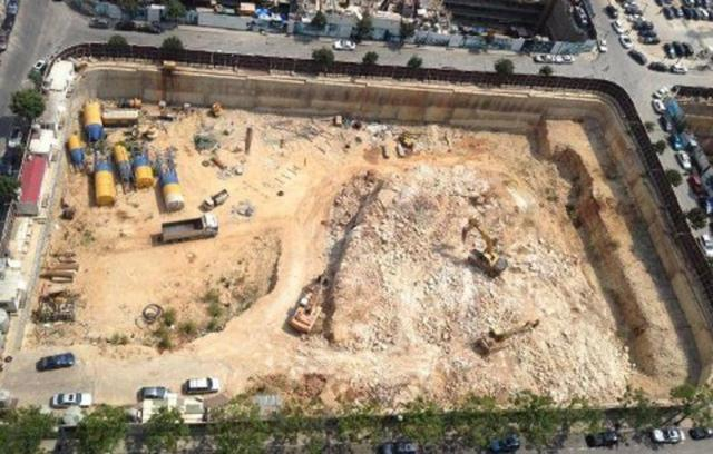 Handout image of the ancient Phoenician port in Beirut bulldozed by construction workers on 26 June 2012. (Photo: Al-Akhbar – Handout – Save Beirut Heritage) via Hummus for Thought