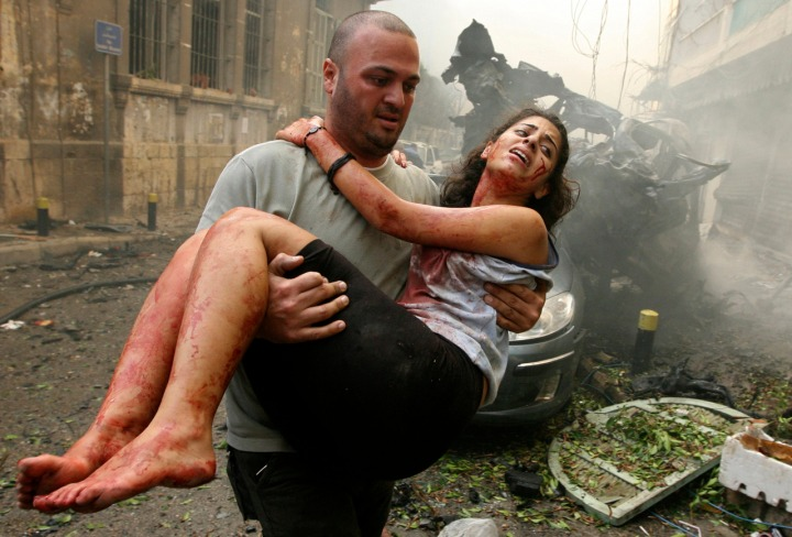 Scene from the bombing in Achrafieh. Found on the internet.