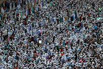 Activists of Hefajat-e-Islam attend a grand rally at Motijheel area in Dhaka, Bangladesh.  By Andrew Biraj/Reuters