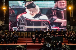 Noam Chomsky receiving his honorary doctorate from AUB