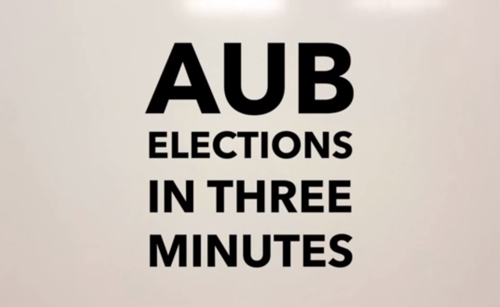 AUB elections in 3 minutes