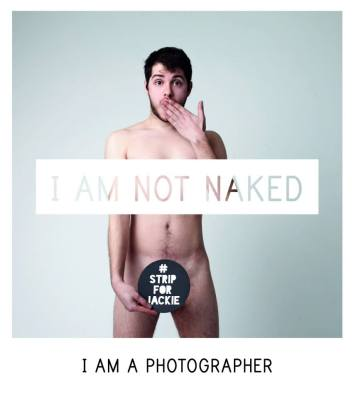 "One of the models of the ""I Am Not Naked"" campaign."