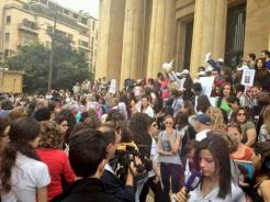 People have started gathering in front of the Museum. Original poster: https://twitter.com/philabouzeid/status/442267218727170048