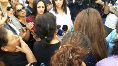 Roula Yaacoub's mother is speaking. Fatima (another victim)'s family is on the left. Taken by Alina Razzouk