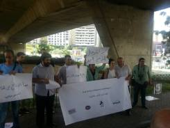 Picture of the protest shared by CLDH - Lebanese Center for Human Rights