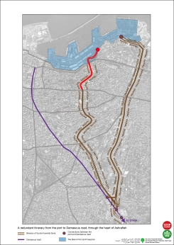 Will the Fouad Boutros highway bring trucks into Achrafieh? (Source: Civil Coalition)