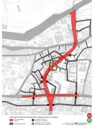 Disruption of local car traffic (source: Civil Coalition)