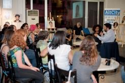 Wadih al Asmar speaking at the opening event at AltCity, Beirut. Photo by Marta Bogdanska