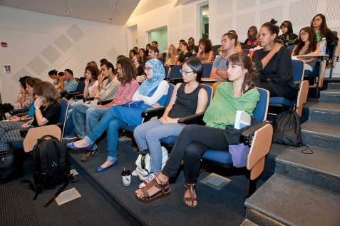 Audience gathered for the opening event at ISI in AUB, October 8, 2014, Beirut. Photo by Marta Bogdanska