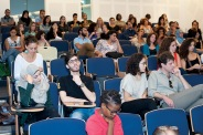 Audience at ISI listening to panel discussion, October 8, 2014, Beirut. Photo by Marta Bogdanska