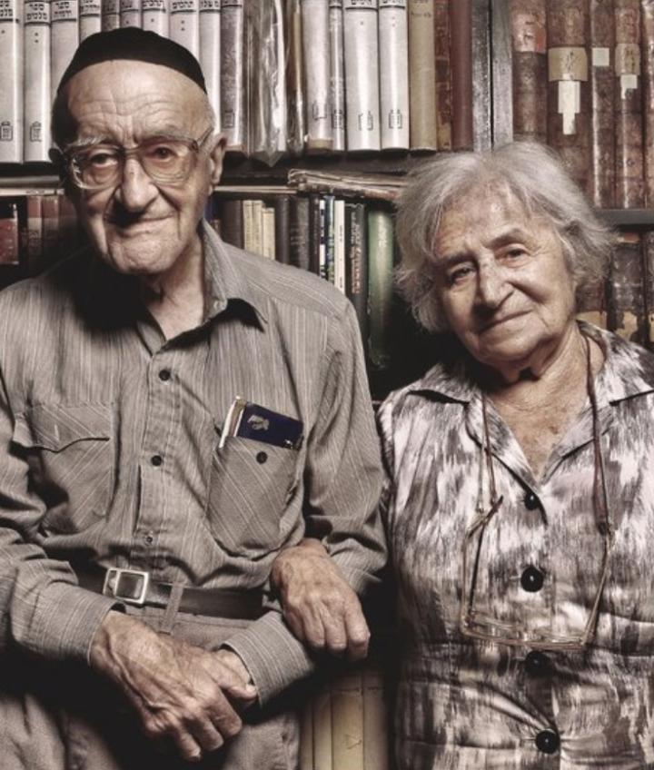 Yeshayahu Leibowitz and his wife Greta.