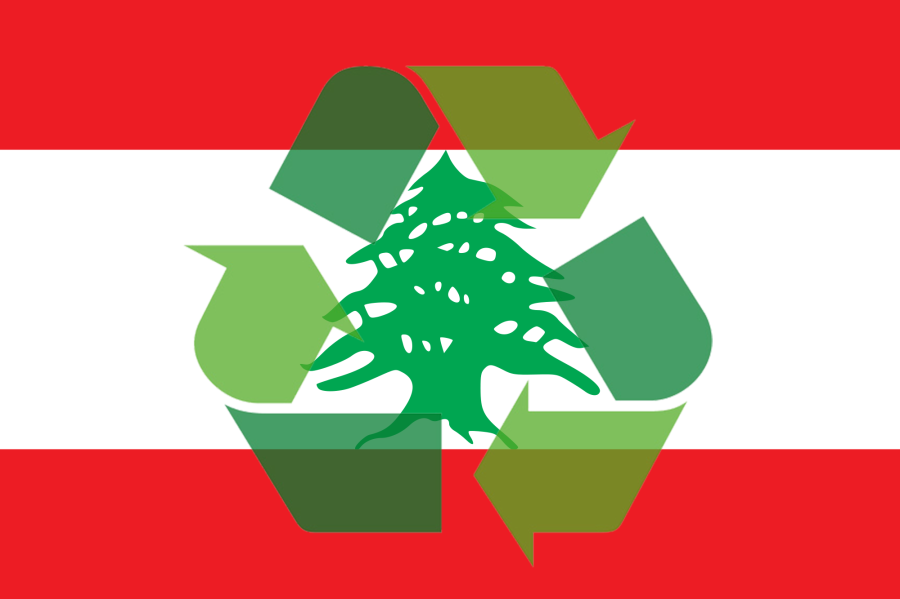 Recycle Lebanon Flag